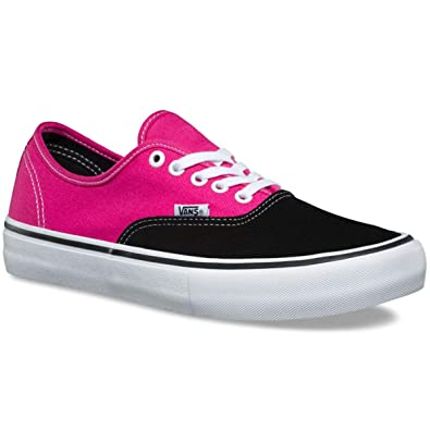 ef1b9250d3 Image Unavailable. Image not available for. Color  Vans Authentic Pro Mens  Size 8.5   Womens Size 10 Black Magenta Skateboarding Shoes