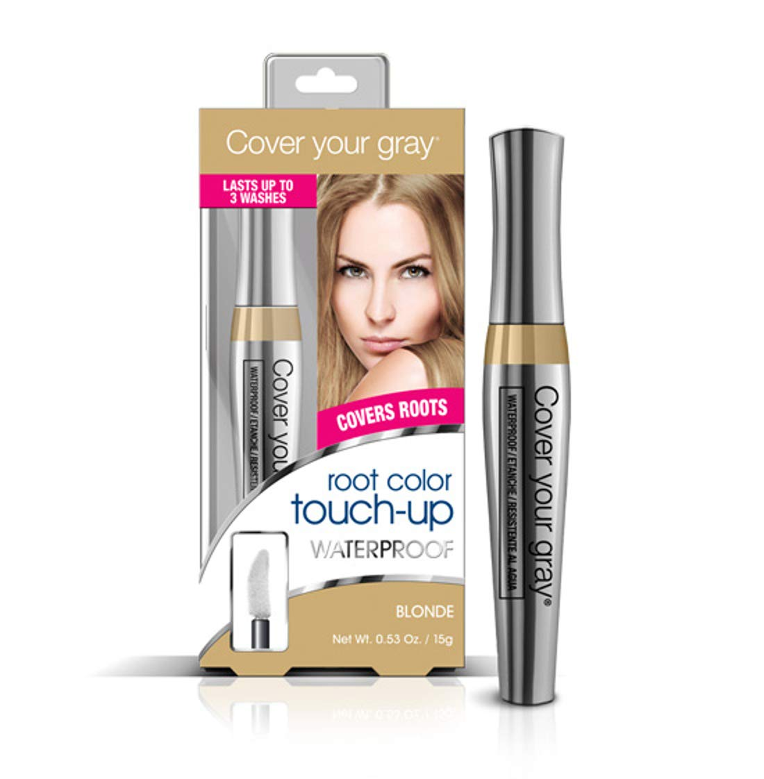 Cover Your Gray Waterproof Root Touch-Up Brown/Blonde Hair Color .53 oz. Daggett & Ramsdell