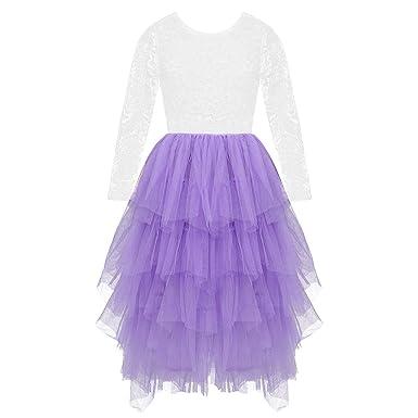 TiaoBug Vestido Fiesta Verano para Niñas Vestido Larga Princesa ...
