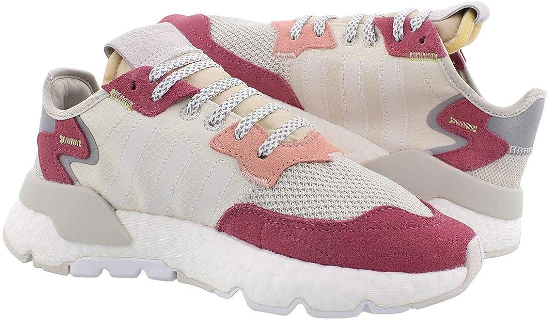 adidas Nite Jogger Freizeit-Sneaker für Damen Weiß Weiß Rosa