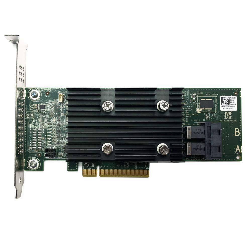 Dell PERC H330+ PCI RAID Controller Bundle with Low Profile Bracket - 75D1H (Renewed)