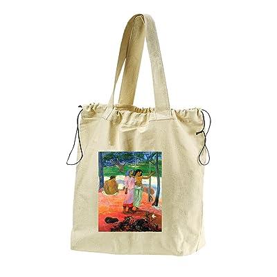 9040a6779d7 delicate Call For Freedem (Gauguin) Canvas Drawstring Beach Tote Bag ...