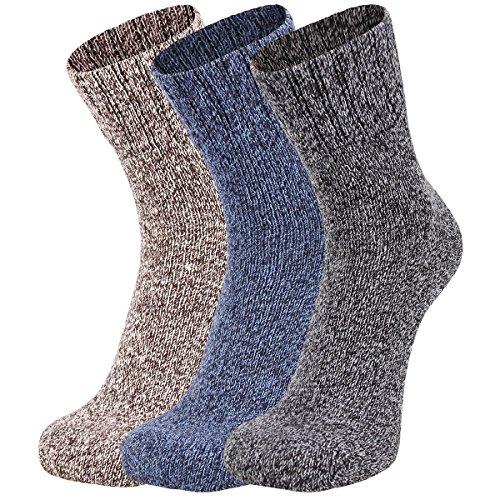 Eallco Mens 3 Pack Wool Casual Ankle Crew Socks Warm Fashion Fall Winter - Fashion Mens This Fall