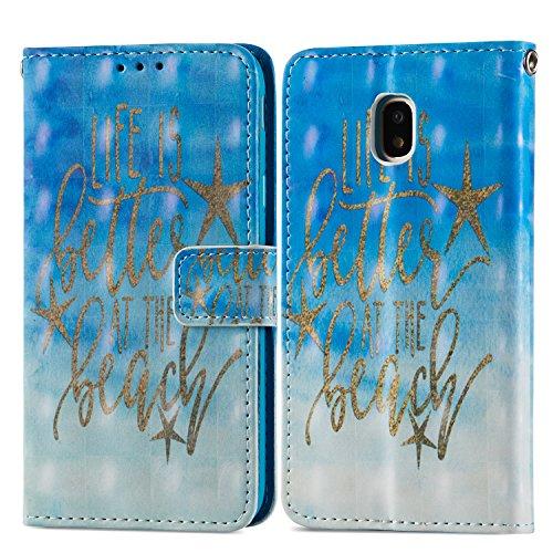 Handyhülle für Samsung Galaxy J3 2017,(Nicht für 2015/2016 Version) BtDuck Ultra Slim Weich Silikon Cover Innere mit Standfunktion Bookstyle Tasche Magnet Leder Schutztasche Schutzhülle für Samsung Ga Muster-#1