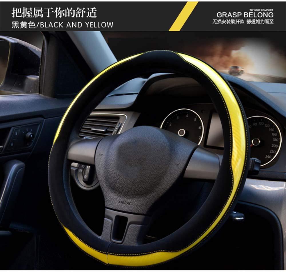 Cool Car Steering Wheel Cover Bling Shining amarillo