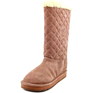 Michael Michael Kors Sandy Quilted Boot Women US 6 Pink Winter Boot