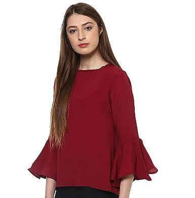 6ba8a00e6c1 indietoga Women s Crepe Top  Amazon.in  Clothing   Accessories