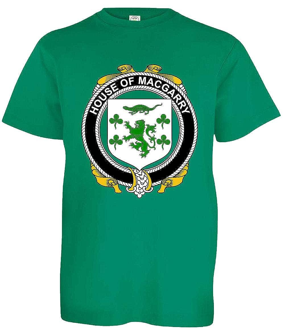 Medium Kelly Green Tenacitee Boys Youth Irish House Heraldry Macgarry T-Shirt