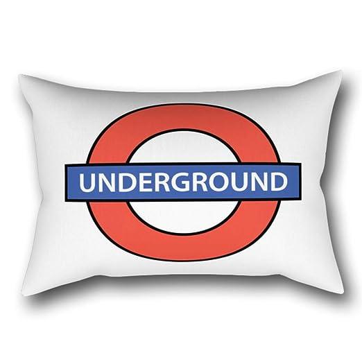 GYTOP Funda Cojín Metro De Londres Funda De Almohada 50X75Cm ...