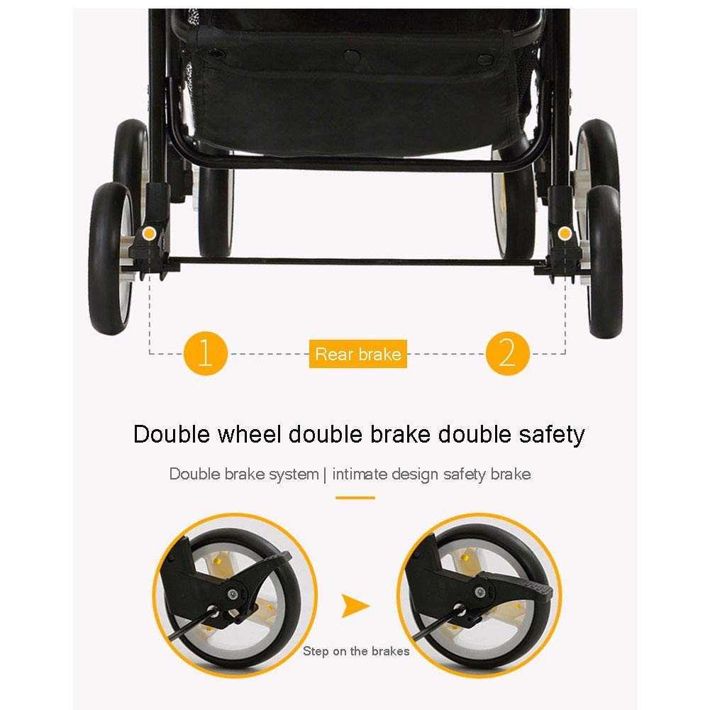 WDXIN Kid's Stroller Pushchair EVA Foam Shock Absorber Wheel Side Double Layer Design Applicable Age: 0-6 Months, 6-12 Months, 1-3 Years Old,C by WDXIN (Image #5)