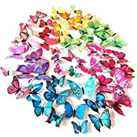 72 Pcs 3d Butterfly Stickers Home Decoration DIY...