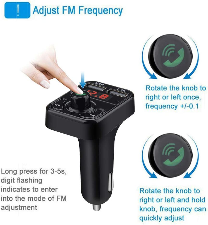Car Kit Handsfree Wireless Blurtooth FM Transmitter LCD MP3 Player USB Charger,Wireless in-Car Pollyhb Car MP3 Player