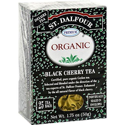 St. Dalfour Organic Tea, Black Cherry, 25 ct - Organic Black Cherry
