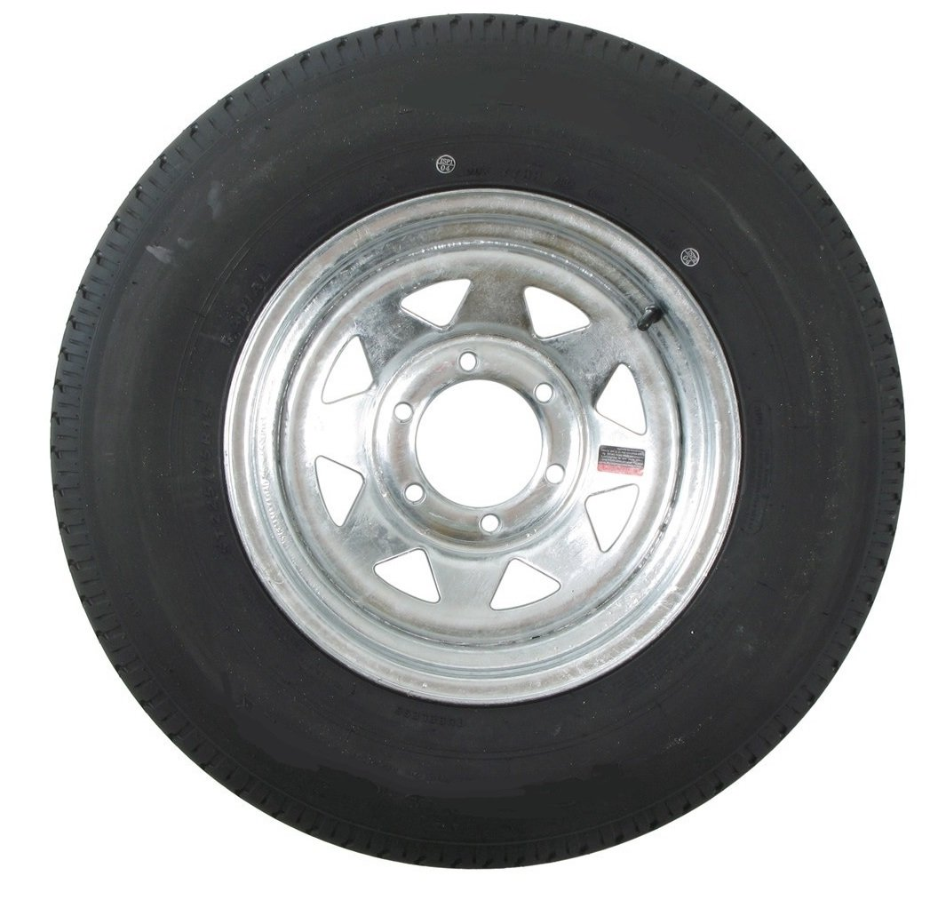 225/75D15 Trailer Tire with 15? Galvanized Spoke Rim