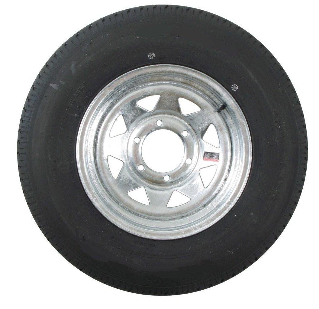 Radial Trailer Tire + Rim ST225/75R15 225/75-15 15 6 Lug Wheel Galvanized Spoke by eCustomRim (Image #1)