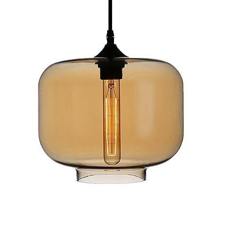 newrays moderna lámpara de cristal ámbar iluminación colgante ...