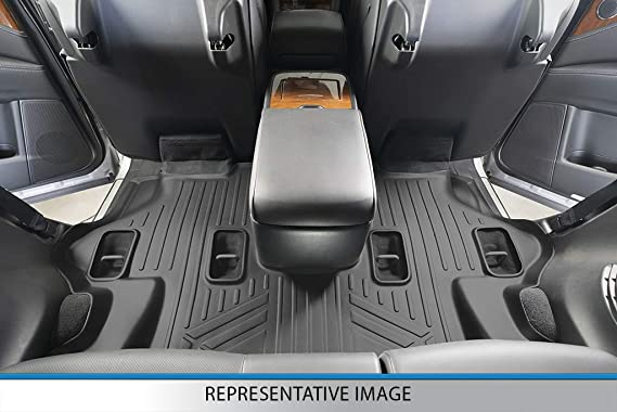 SMARTLINER SC0502 All Weather Custom Fit Floor Mats 3rd Row Liner Black for 2020 Ford Explorer Only Fits with 2nd Row Bench Seats Fit for Specific Vehicle