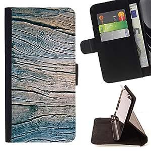 Jordan Colourful Shop - grain blue summer pier texture For Apple Iphone 5 / 5S - Leather Case Absorci???¡¯???€????€????????&cen