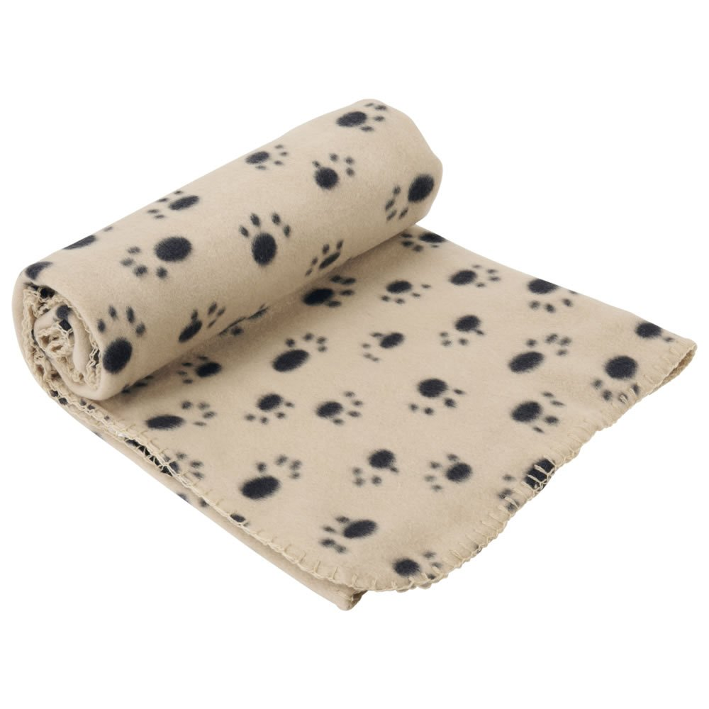 Extra Large Soft Cosy Warm Fleece Pet Dog Cat Animal Blanket Throw 140 x 100cm - Cream Bunty