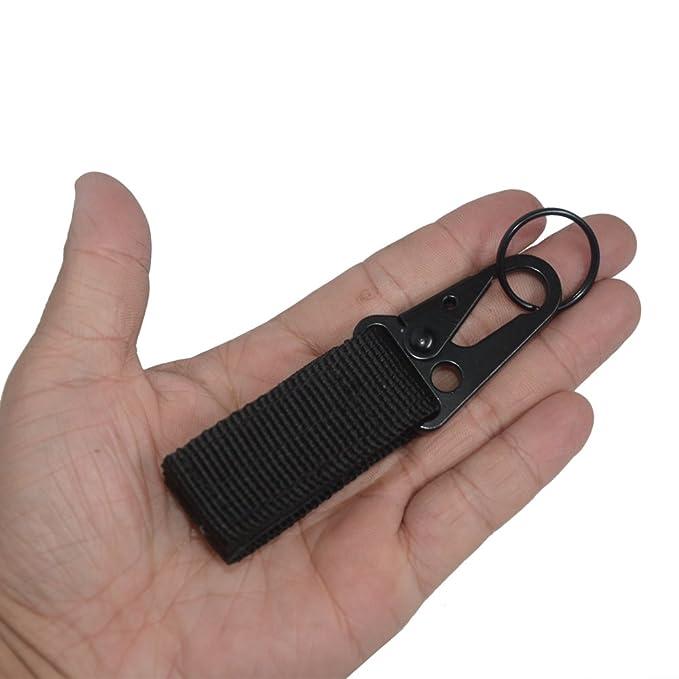 Llavero táctico de nailon mosquetón clip EDC llavero de primeros: Amazon.es: Deportes y aire libre