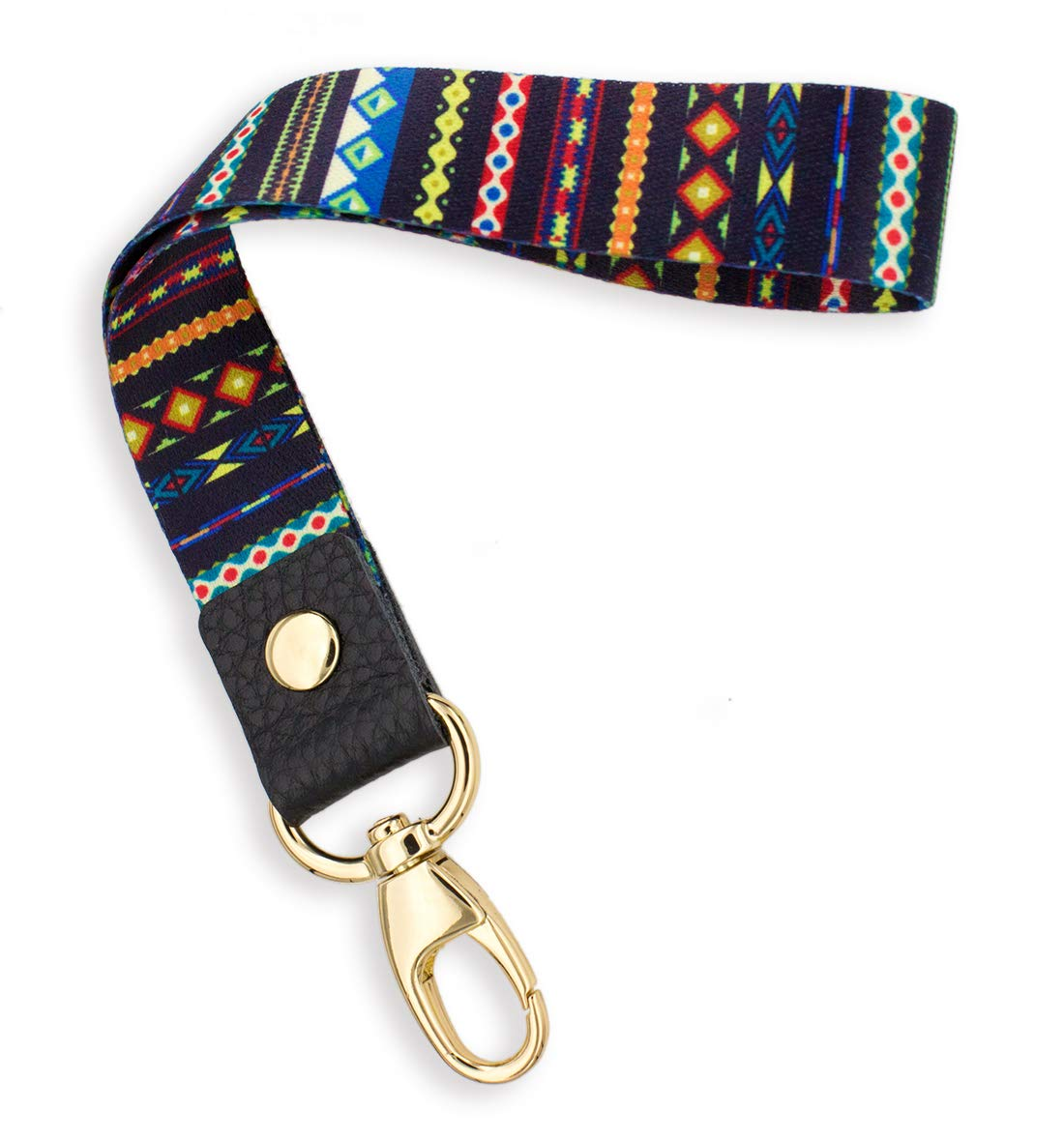 SENLLY Trib Vintage Hand Wrist Lanyard Premium Quality Wristlet Strap with Metal Clasp and Genuine Leather, for Key Chain, Camera, Cell Mobile Phone, Charms, Lightweight Items etc
