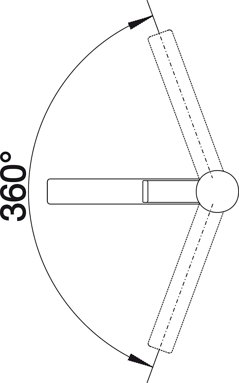 Blanco Mitigeur monotrou haute pression 517801 Chrome Zenos