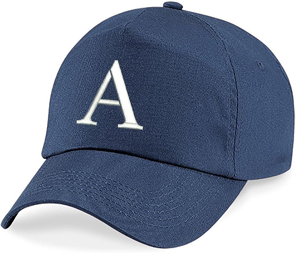 4sold Childrens Quality Cotton Summer Sun Hat New Children School Kids caps Navy Blue Hat Sport Alphabet A-Z Boy Girl Adjustable Baseball Cap
