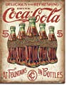 "New Drink Coca Cola Coke at Fountains and in Bottles 16"" x 12.5"" (D2091) Antique Appearance Advertising Tin Sign"