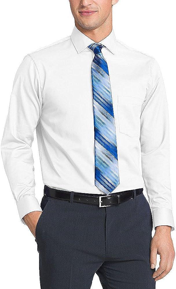 Kirkland Signature hombres de manga larga, no necesita planchado Tailored Fit Twill camiseta deportiva de manga larga