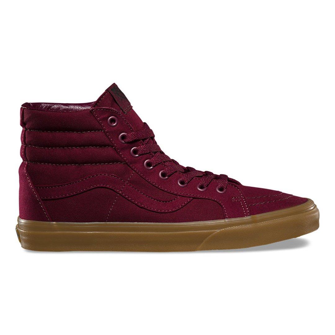 Vans Canvas Gum Sk8-Hi Reissue Sneakers (Port Royale/Light Gum) High-Top Shoes 10.5 B(M) US Women / 9 D(M) US Men