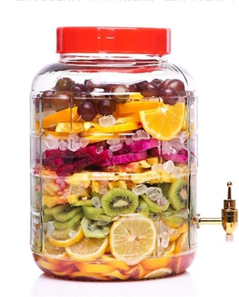 MYXMY Dispensador de Bebidas de Vidrio Enzima de Fruta Fermentación Barril Botella de Vino de Vidrio con Grifo Latas de Gran Capacidad Sellado Tarro Kimchi Inicio (Size : 15l)