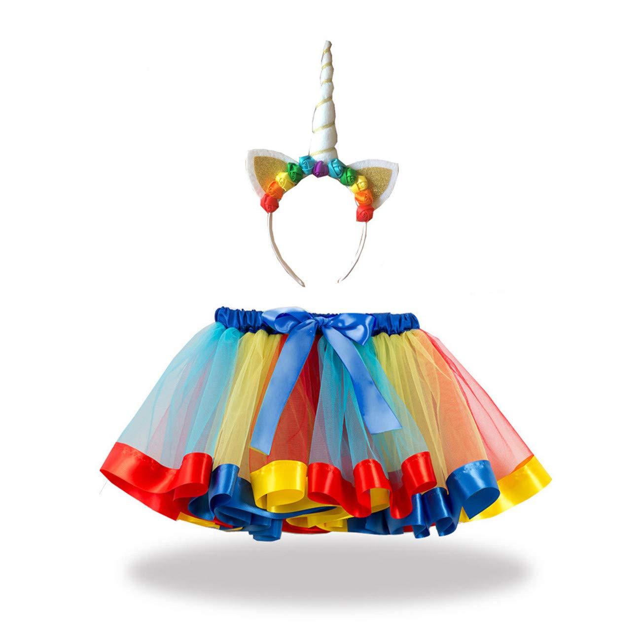 DAVOO - Tutú de Tul para niños, diseño de Flores y Unicornio, N ...