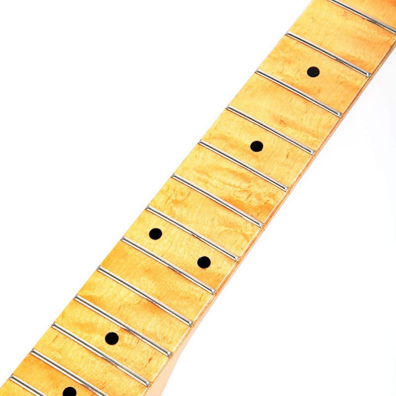 Diapasón de diapasón de cuello de reemplazo de madera de arce Qewmsg para guitarra eléctrica ST Strat: Amazon.es: Instrumentos musicales
