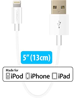 amazon com apple mfi certified cablejive iboltz xs extra short apple mfi certified homespot sync charge 5 13cm lightning