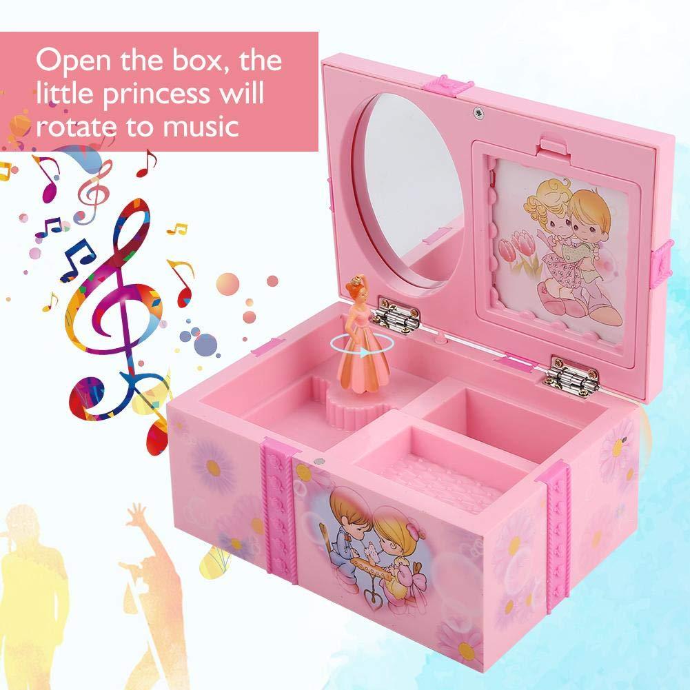 Zerodis Bo/îte /à Musique Danseuse Ballerine Figurine Jouet D/éveil Rangement de Bijoux pour Fille Cadeau pour Enfants Anniversaire Mariage D/écoration
