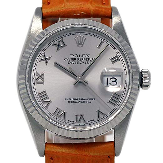 Rolex 16234 - Reloj de Pulsera automático para Hombre Datejust Swiss-Automatic (Certificado de