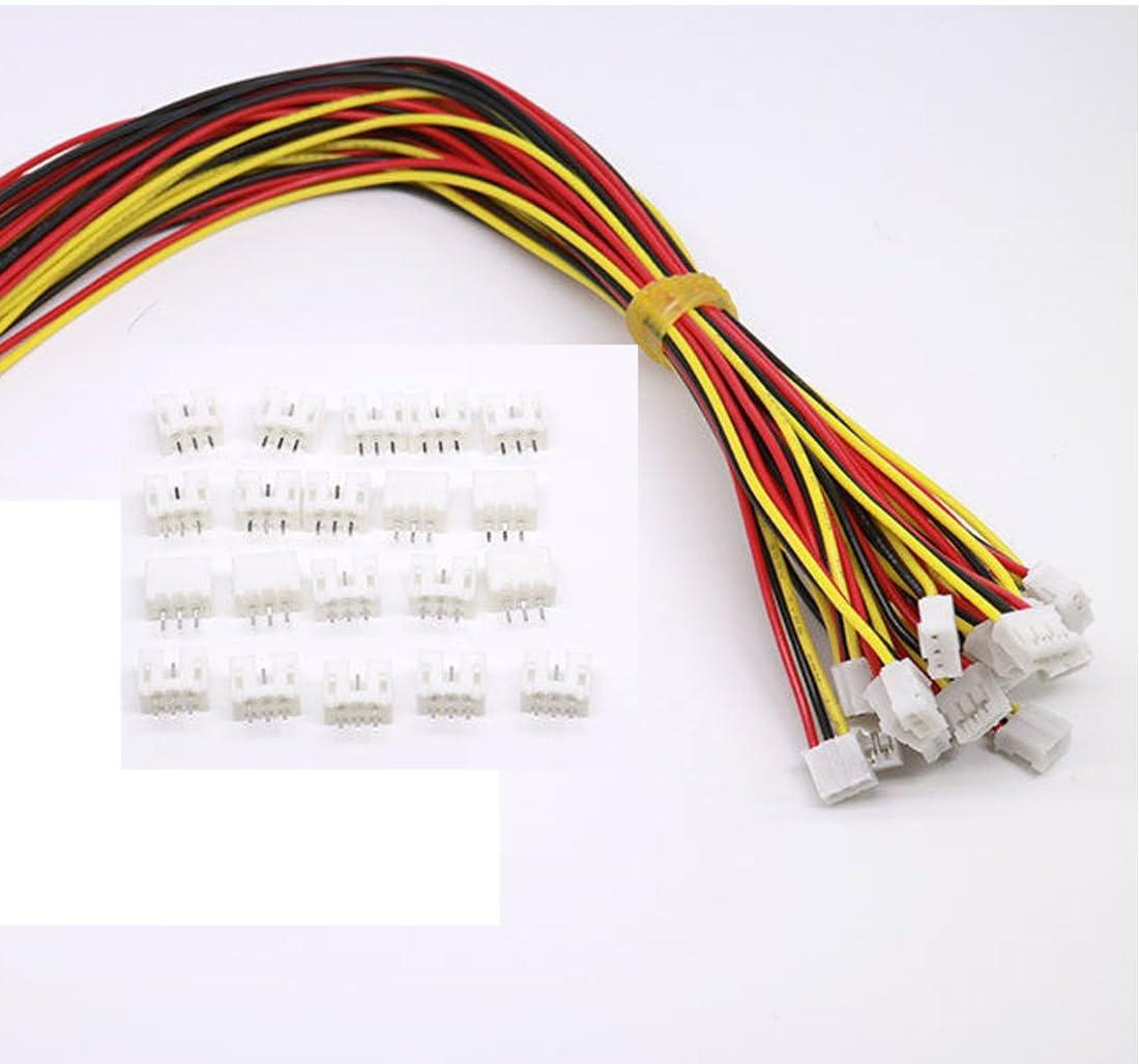 20 Pairs JST SM 3Pin LED Strip Connectors Stecker Verbindungsstecker For WS2812B