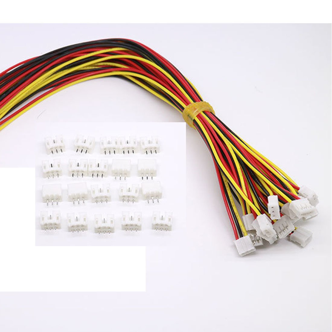 10 Sets Mini Micro Jst 2.0 Ph 3 Pin Connector Plug Male With 150mm Cable & Female daier