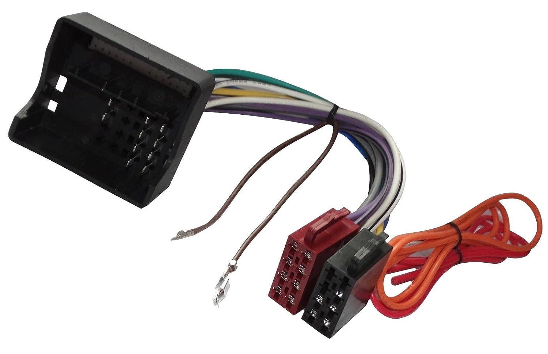 AERZETIX: Adaptador cable enchufe ISO para radio de coche, vehiculos C11162 SK2-C11162-R205