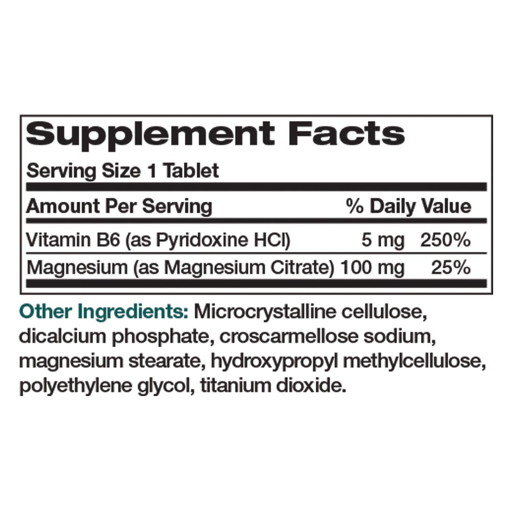 Amazon.com: Bronson Magnesium Citrate with Vitamin B-6, 100 Tablets: Health & Personal Care