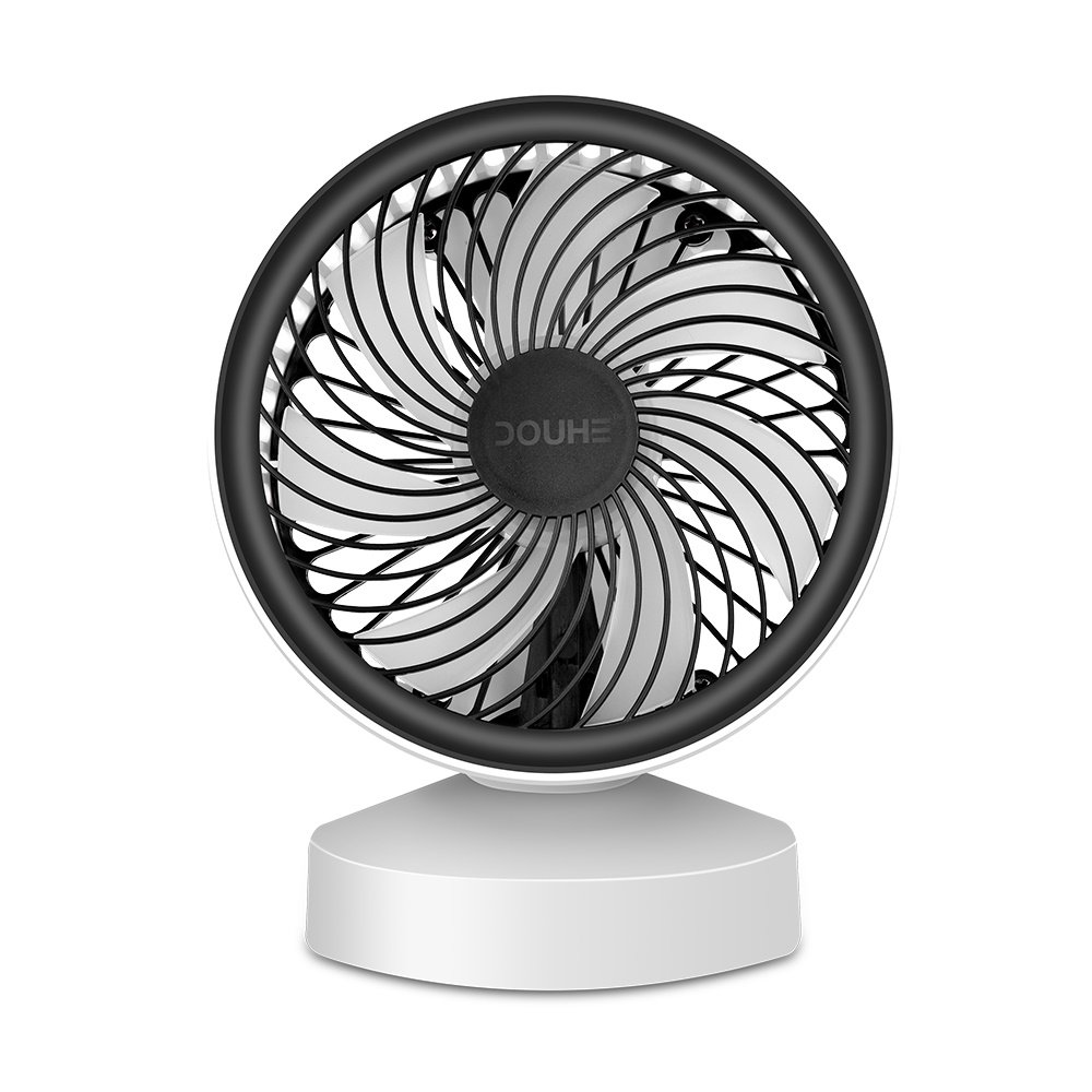 DOUHE Mini USB Desk Fan, Electric Table Fan with Belt Handle Small Quiet for Home and Office PC Computer Laptop Chormebook Ultrabook …