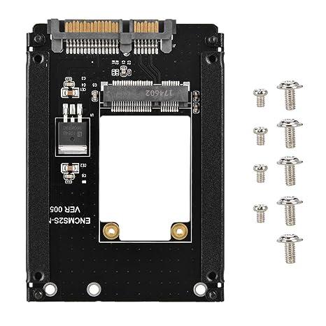 Zerone MSATA a SATA 22pin Adaptador de Tarjeta mSATA PCI-E SSD a ...