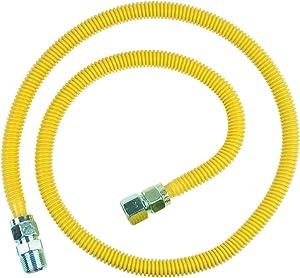 BrassCraft CSSC21-60 P 3/4-Inch FIP x 3/4-Inch MIP x 60-Inch ProCoat Gas Appliance Connector, 5/8-Inch, OD 93,200 BTU