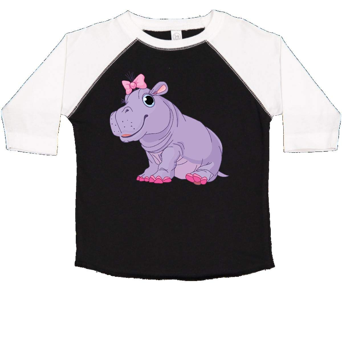 inktastic Cute Purple Hippo Toddler T-Shirt