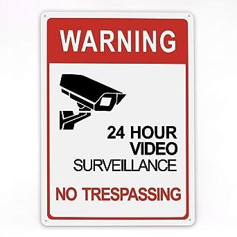 Amazon.com: Señal de vigilancia de vídeo, uso interior y ...
