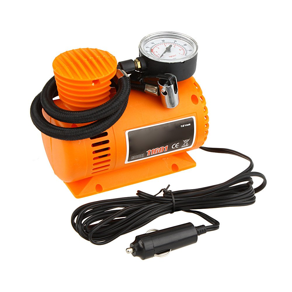 Lorenlli DC12V 300Psi Car Tire Inflator Auto Mini Air Compressor Tire Pump With Pressure Gauge For Car Bicycle Motorcycle Ball