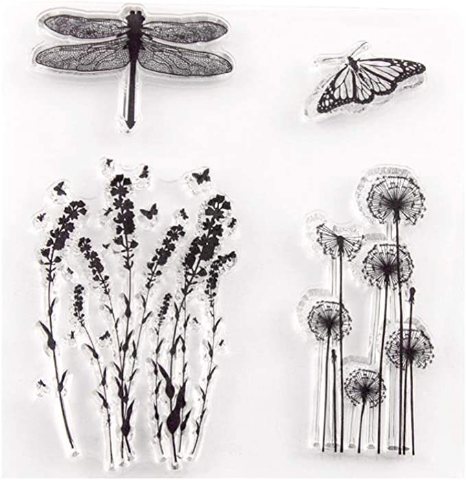 JAGETRADE Clear Stamp,Schmetterling Eule transparente Silikonstempel f/ür DIY Scrapbooking Fotoalben Dekor