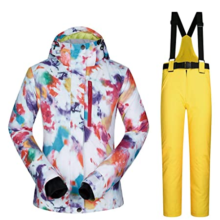 Chengzuoqing Traje de Esquiar Pantalones de Chaqueta de esquí ...