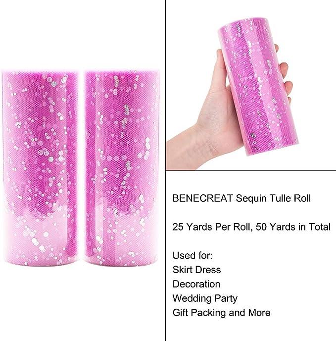 Tulle Retro glitter pink 1.5 m width