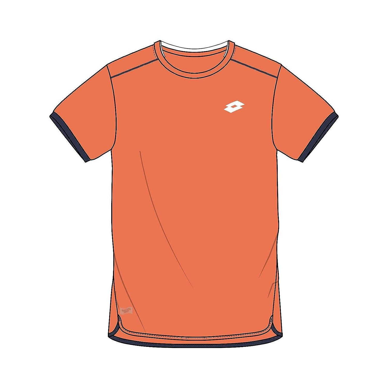 Lotto AYDEX IV tee B - Camiseta, Niño, Naranja(Ora 805/NVY) Niño